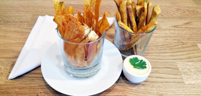 Hranolky a chipsy z plantainu