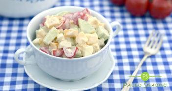 Zeleninový salát se sýrem a vejci