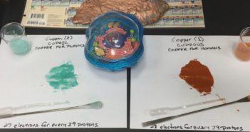 Demonstrace rozdílů mezi různými druhy mědi